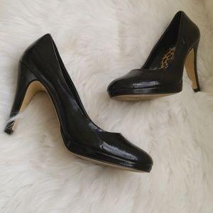 Black Patten Leather Pumps